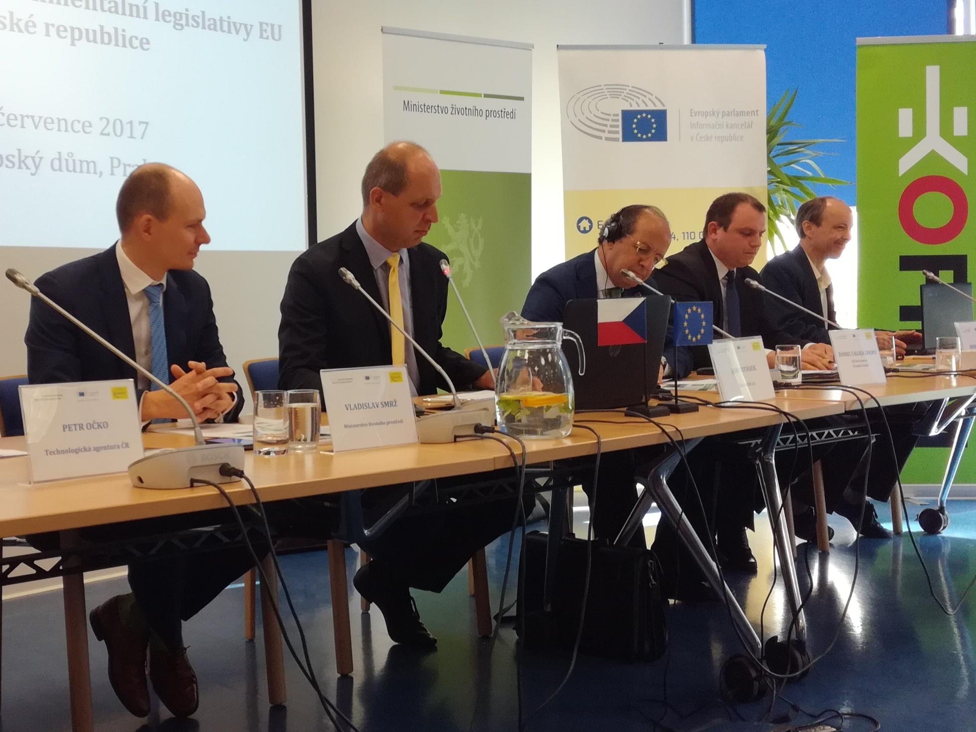 Generální ředitel Calleja z EK představil tzv. country report ČR k provádění evropské legislativy pro životní prostředí