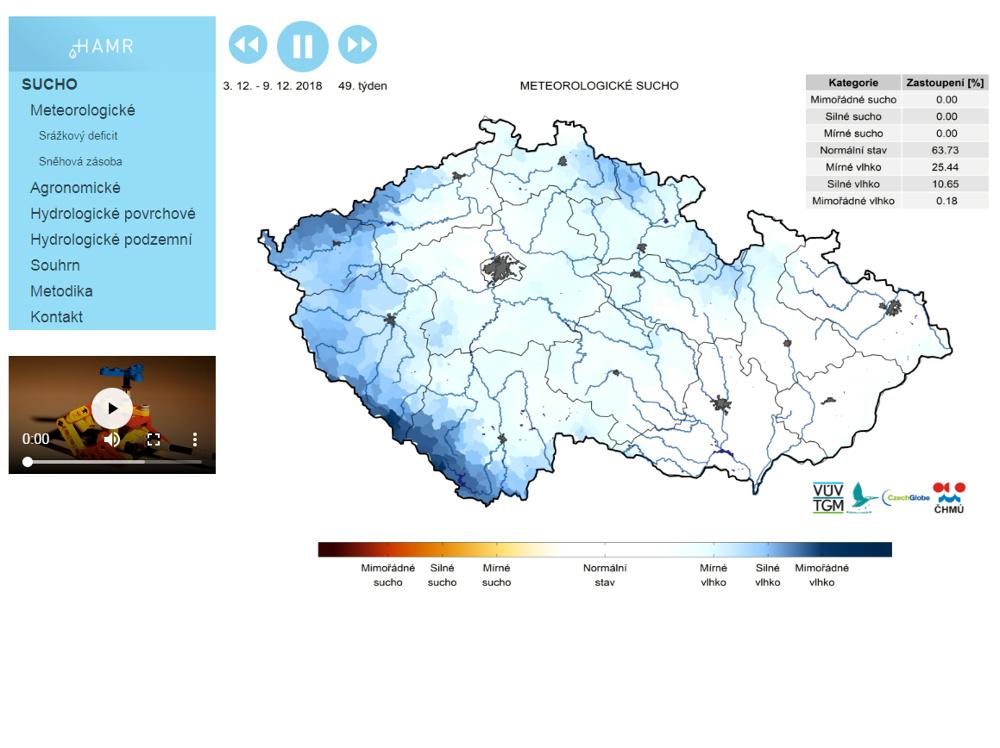 Sucho ode dneška monitoruje nový systém MŽP - HAMR (hydrologie, agronomie, meteorologie a retence)