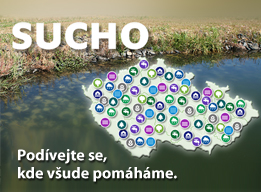 Sucho - mapa - Baner