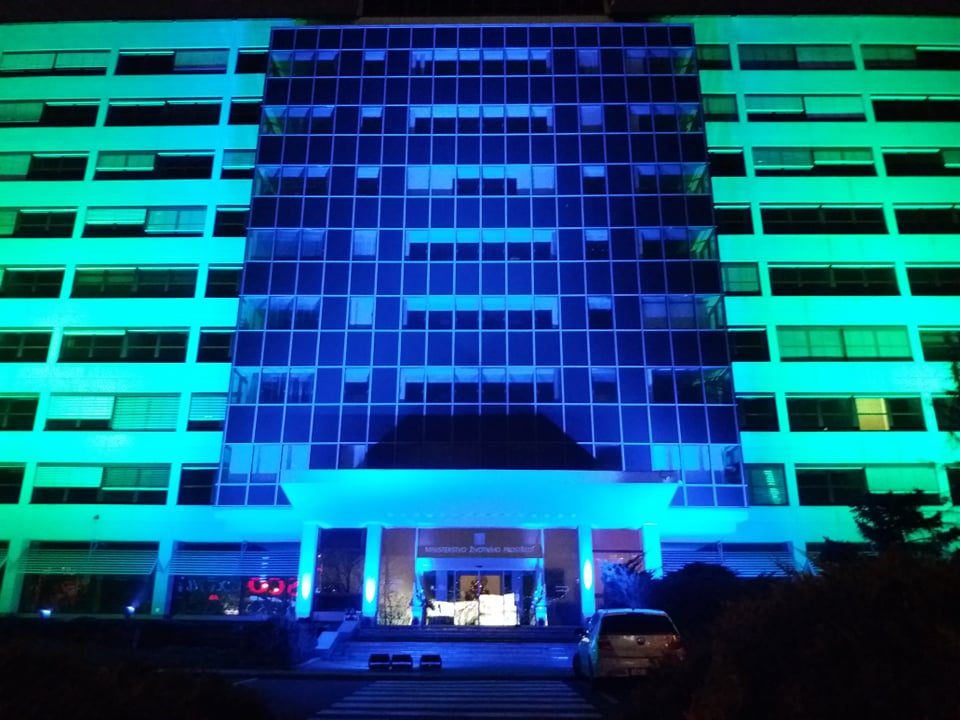 Five years on from the Paris Agreement, the Ministry of the Environment's building is to be lit up in the colours of Planet Earth