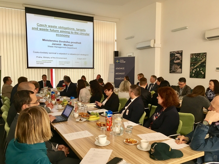 The Czech-Swedish workshop focused on the waste management was held in the Ministry of the Environment