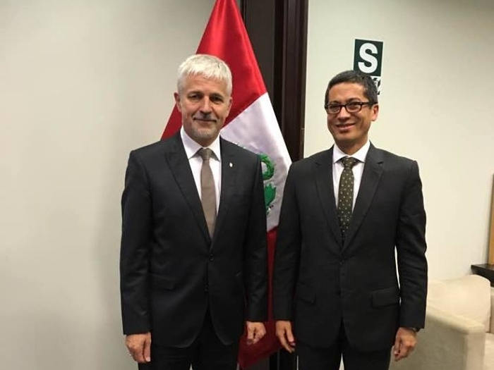 On His Visit to Peru Deputy Minister Vladimír F. Mana Discussed the Issues of Disaster Prevention, Water and Waste Management