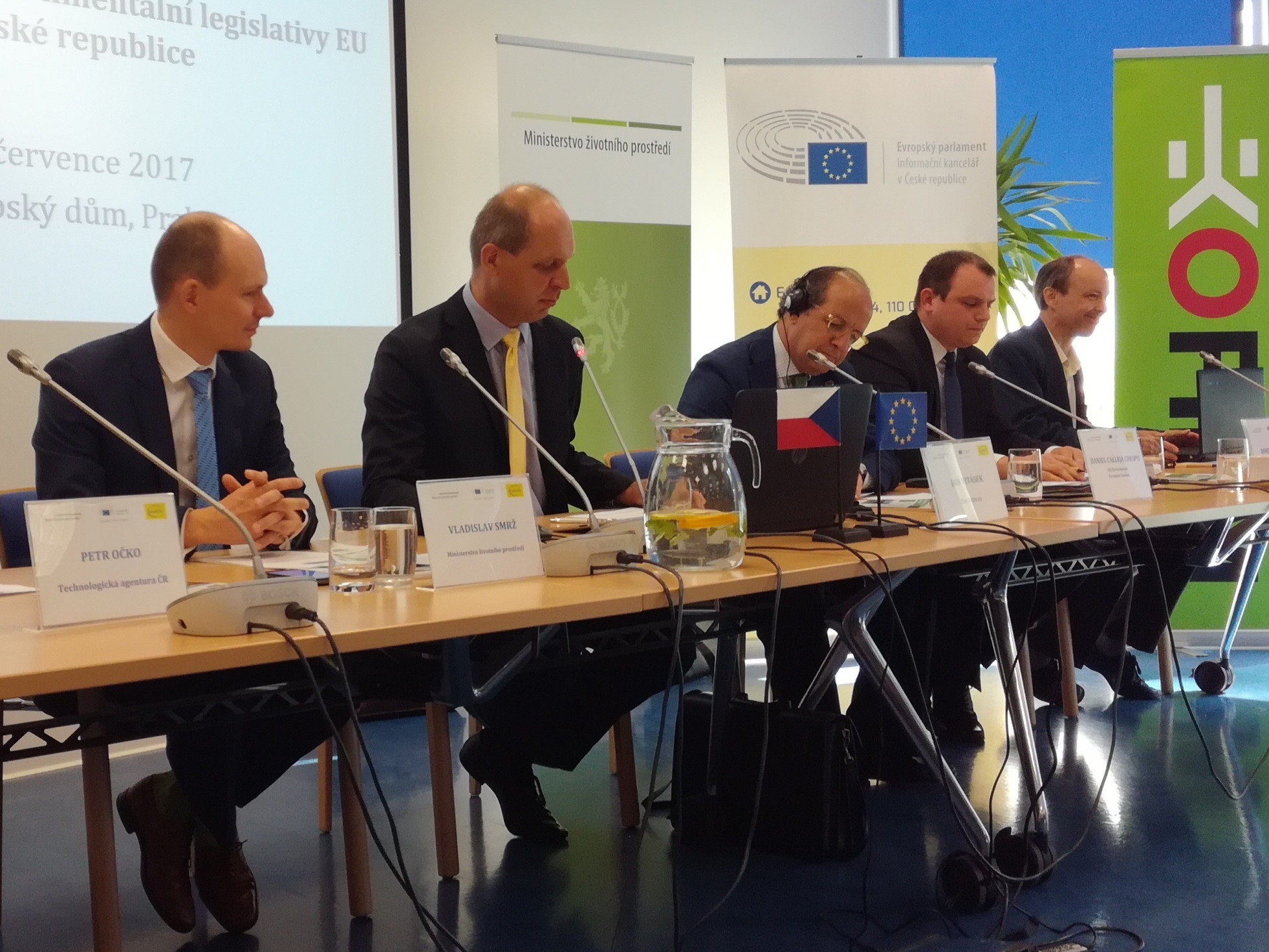 Daniel Calleja of the European Commission in Prague: presented the Czech Republic country report on implementation of EU environmental legislation