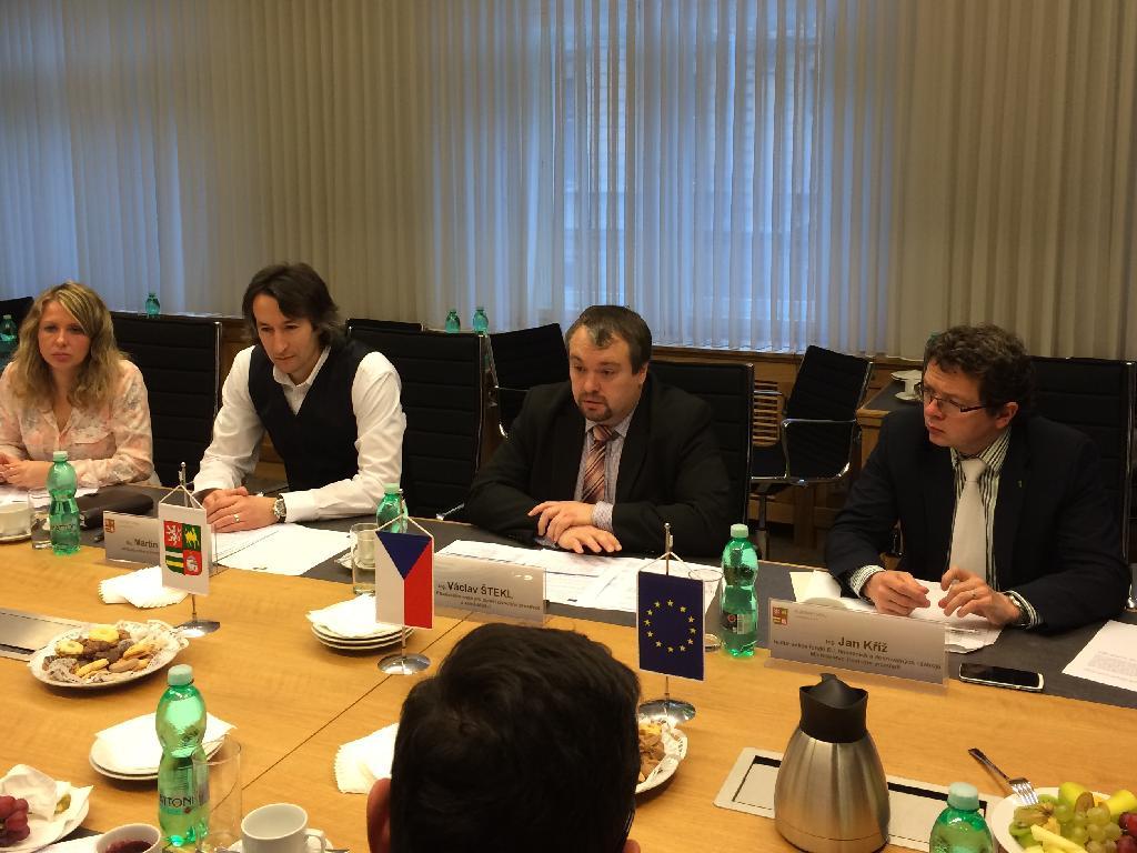 Náměstek ministra ŽP Jan Kříž na tiskové konferenci v Plzeňském kraji.